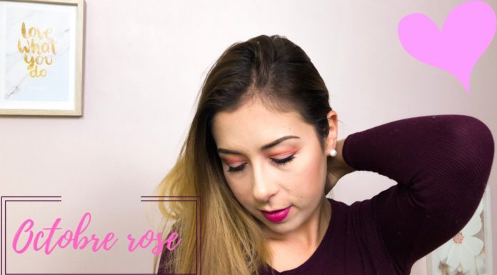 Maquillage spécial Octobre Rose